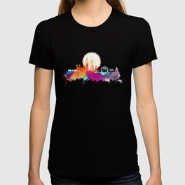 Colored London skyline T-shirt