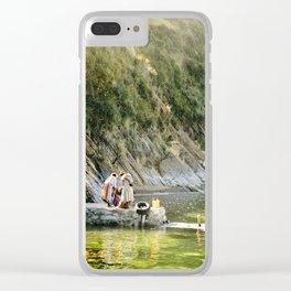 Local Bolivian Women on Isla Del Sol on Lake Titicaca, Bolivia Clear iPhone Case