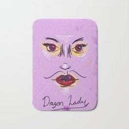 Dragon Lady in Mystic Purple Bath Mat