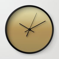gatsby Wall Clocks featuring GOLD GATSBY by colorstudio