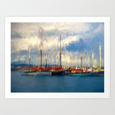 Waiting to sail Art Print