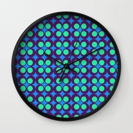 VINTAGE GEOMETRIC CIRCLES  Wall Clock