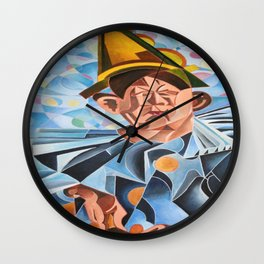 Not Clowning But Frowning Wall Clock