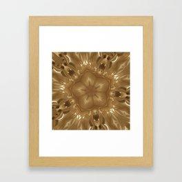 Elegant Gold Brown Shimmering Star Framed Art Print