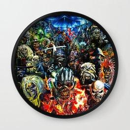 iron maiden tour 2020 2021 hammer oneng Wall Clock