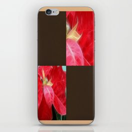 Mottled Red Poinsettia 2 Blank Q3F0 iPhone Skin