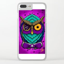 Fancy Owl Clear iPhone Case