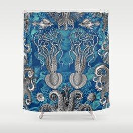 The Kraken (Blue - No Text) Shower Curtain