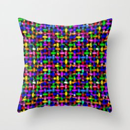 Paint Splodge Colour Abstract Weave Throw Pillow