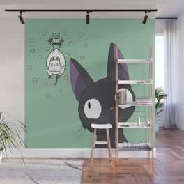 Jiji x Spirited Away (bathhouse green) Wall Mural