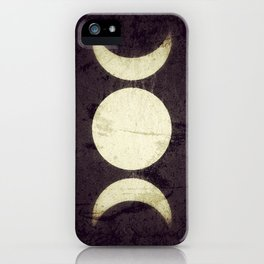 Triple Moon Goddess iPhone Case