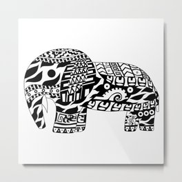 Mr elephant ecopop Metal Print