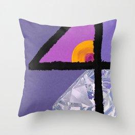 Diamond Four Throw Pillow