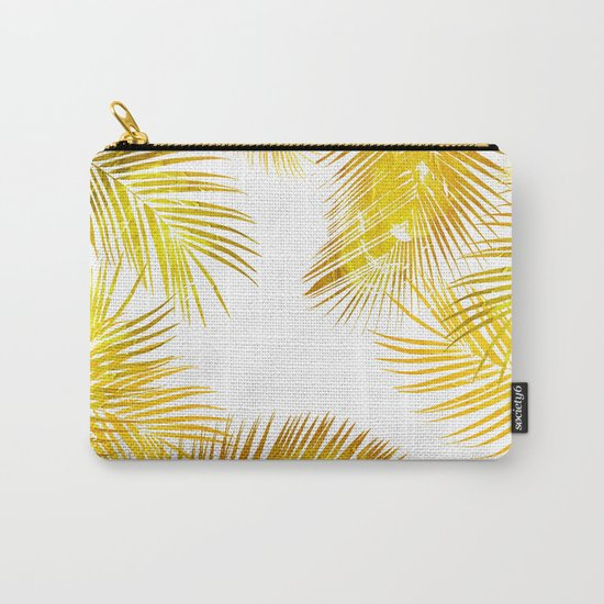 natural gold, tropical Carry-All Pouch