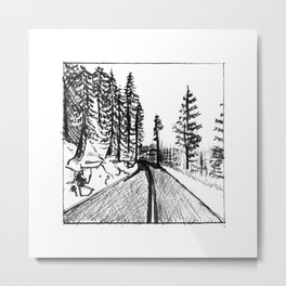 Glacier Point Road Metal Print