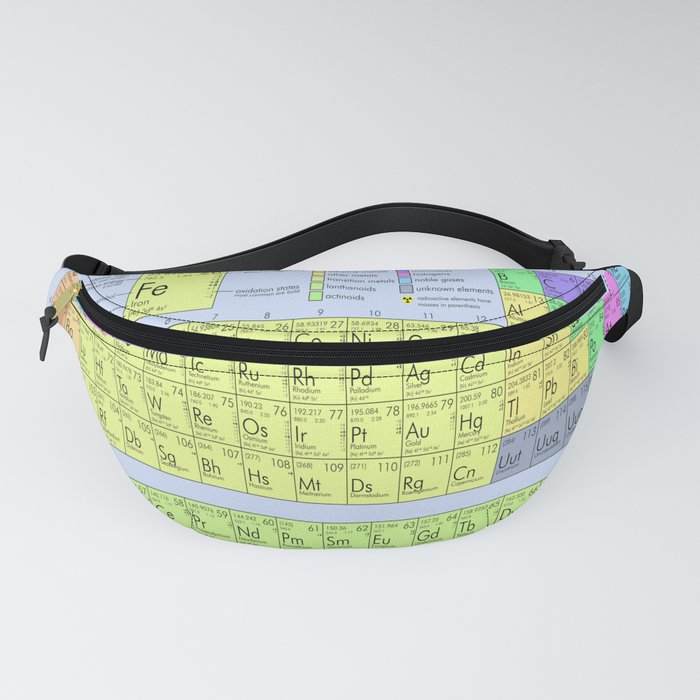 The Periodic Table Blue Background Fanny Pack