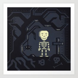 Skeleton boy artwork Art Print