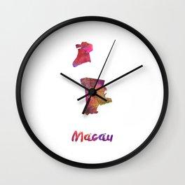 Macau in watercolor Wall Clock
