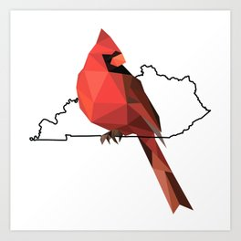 Kentucky – Northern Cardinal Art Print