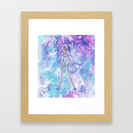 Fashion Illustration Babe 4 Framed Art Print