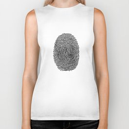 Fingerprint CSI crime scene Biker Tank