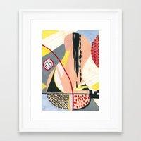 fruits Framed Art Prints featuring Fruits by Mariana Lisina