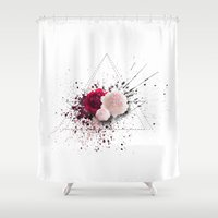 peonies Shower Curtains featuring Peonies  by Valhalla Calling
