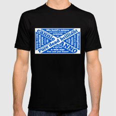 Scottish slang and phrases Mens Fitted Tee MEDIUM Black