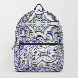 Lavender Glow Boho Celtic Ancient Sacred Cross Geometry Print Backpack