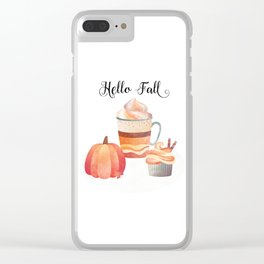 Hello Fall Clear iPhone Case