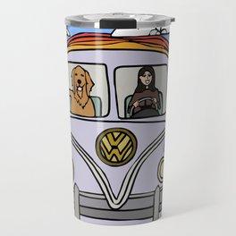Golden Retriever Beach Travel Mug
