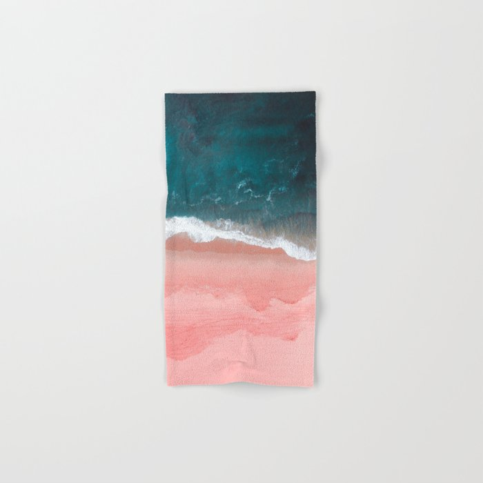 Turquoise Sea Pastel Beach III Hand & Bath Towel