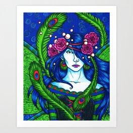 Peacock Fairy Art Print
