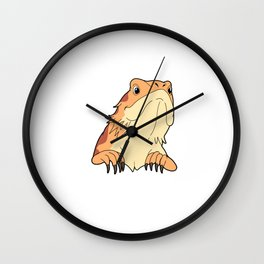 Bearded Dragon Gift Design Funny Reptile Dysfunction Print Product Wall Clock