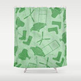 GARDEN TOOL KIT PATTERN Shower Curtain