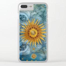 """Saturn mandala celestial vault"" Clear iPhone Case"