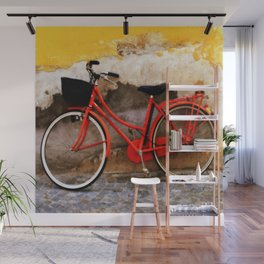 The Red Bicycle Wall Mural