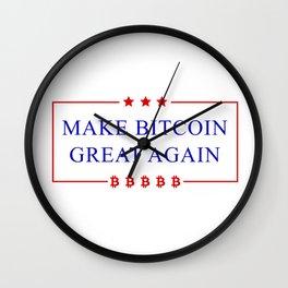 Make Bitcoin Great Again - Bitcoin Funny T-Shirt Wall Clock