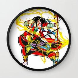 """Kabuki """"lightning arrow"""" Wall Clock"""