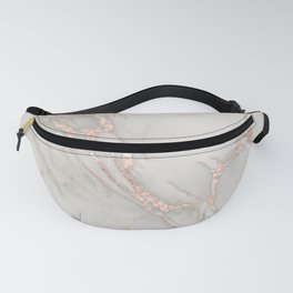 Marble Rose Gold Blush Pink Metallic by Nature Magick Fanny Pack
