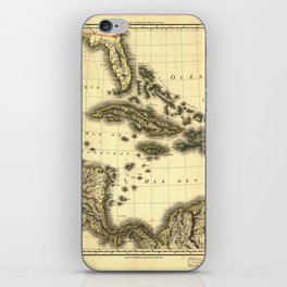 Map of the West Indies and Mexican Gulf (1806) iPhone Skin