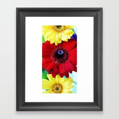 Red and Yellow Gerberas Framed Art Print