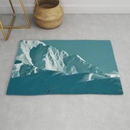 Alaskan Mts. I, Bathed in Teal Rug
