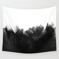 yin yang Wall Tapestries featuring Yin by cafelab