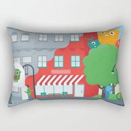 Paranoid Street Rectangular Pillow