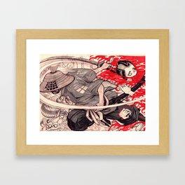 Samurai Battle Framed Art Print