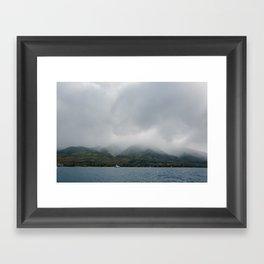Foggy Maui View Framed Art Print
