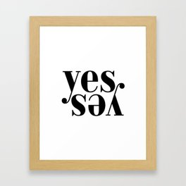 Yes Print Art Print Huge Large Wall Art Lettering Horizontal Prints Poster Art Inspirational Motivat Framed Art Print