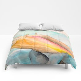 Conch Shell Watercolor Comforters