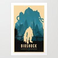 bioshock Art Prints featuring Bioshock 2 by Bill Pyle